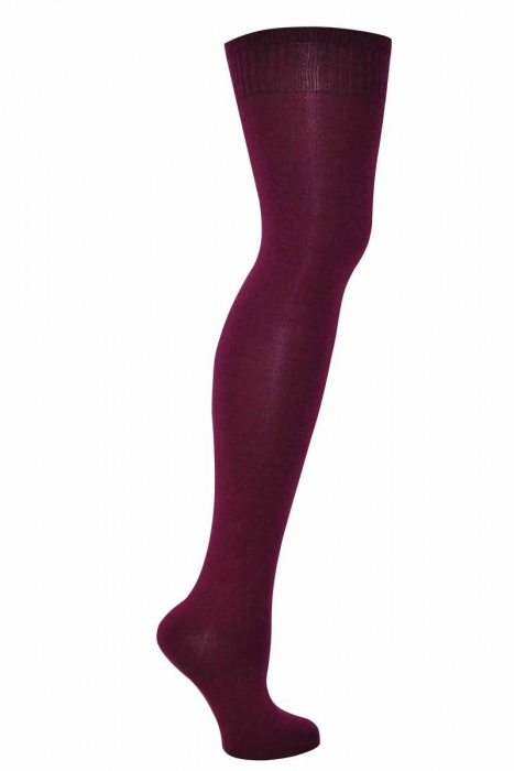 Genou chaussettes en coton de haute de la femme
