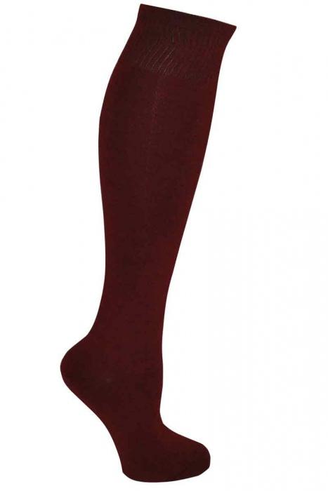 Monochromatique genou de bambou chaussettes hautes de la femme