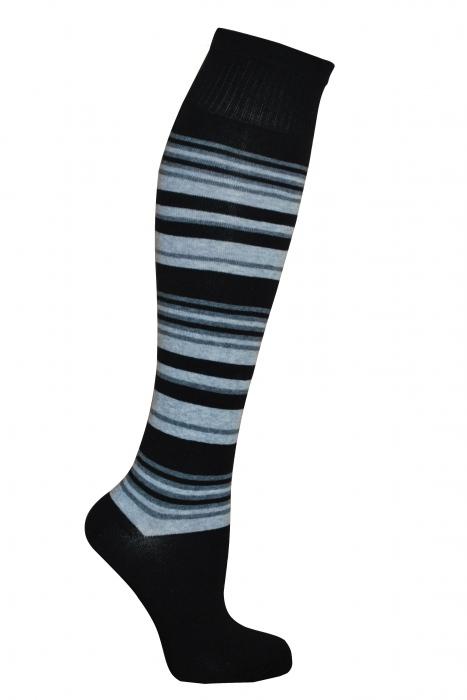 Coton rayé le genou de femmes chaussettes hautes