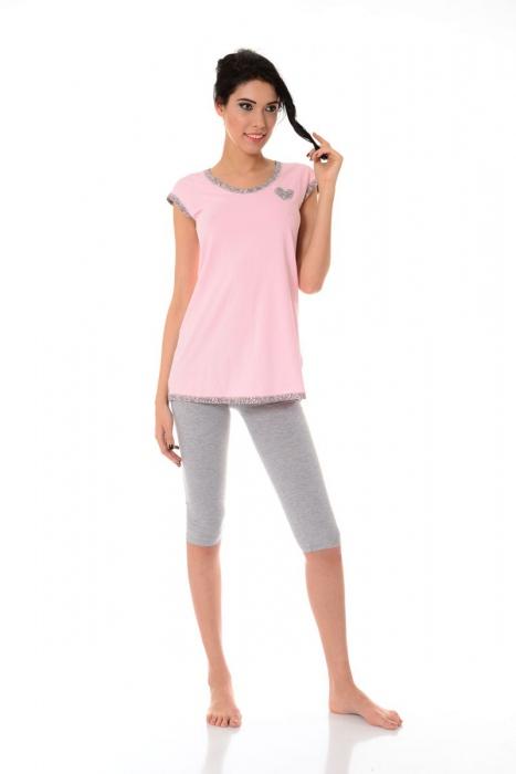 Pyjamas de femmes shirt manches 3/4 et leggings 1453