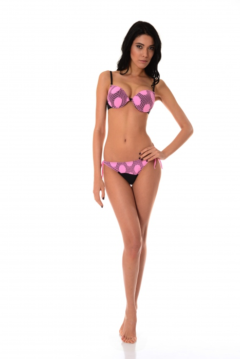 Ensemble bikini Push up tasse & fond dur cravate mince 1176