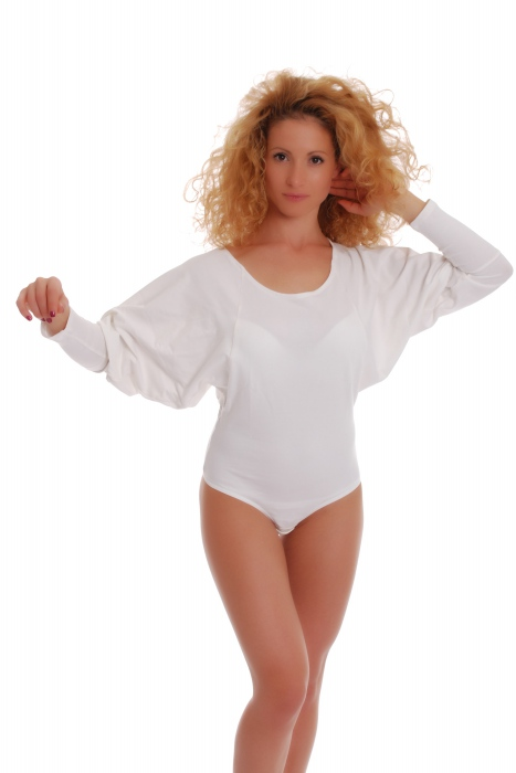 Mesdames thermique Body col rond manches longues Thong style 15-88