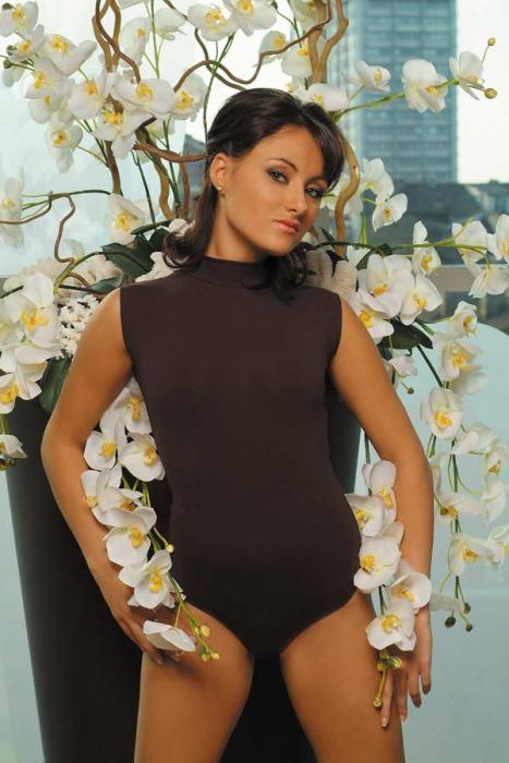 Bodysuit en coton sans manches Semi-Polo Bikini Style 1335