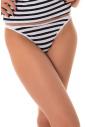 Äxcised Cotton Tanga Panties Stripe 1215