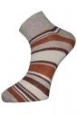 Chaussettes en coton rayé pour femme