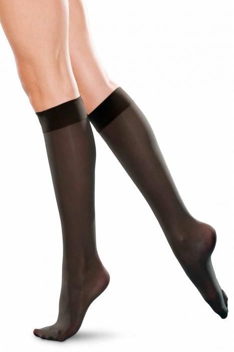 Chaussettes à genou haute taille classique 20 den