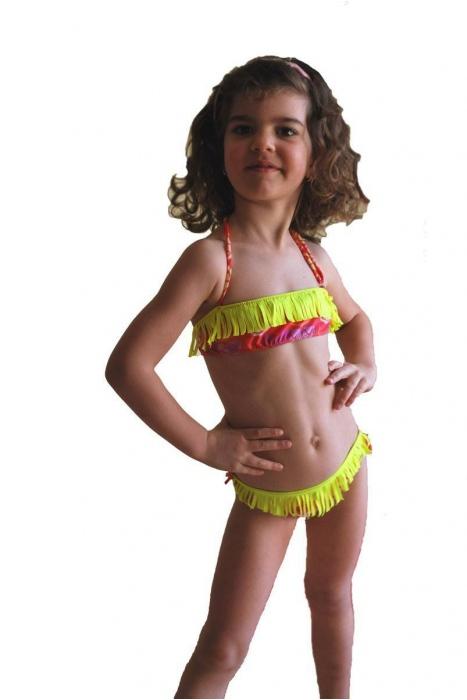 Maillot de bain Bikini pour enfant bando macrame fonds avec cravates 1115