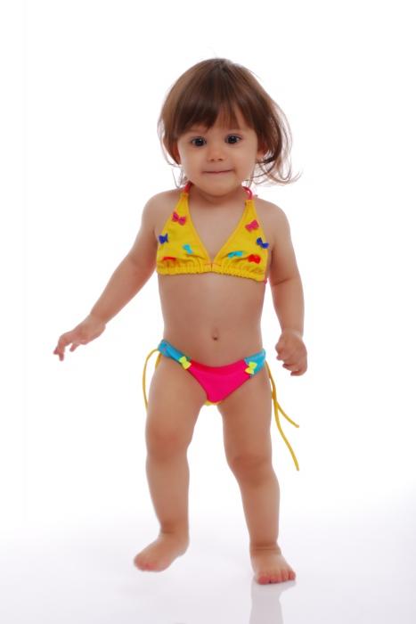 Maillot de bain enfant Bikini doux en triangle avec cravates 1114