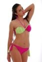 Ensemble de bikini Maillot face Bando & rubans à cravate côté arrière 1188