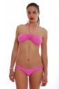 Bikini Set Bando avec amorti & taille basse 1181