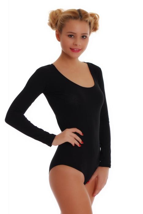Body manches longues en coton femmes Bikini de style 1380