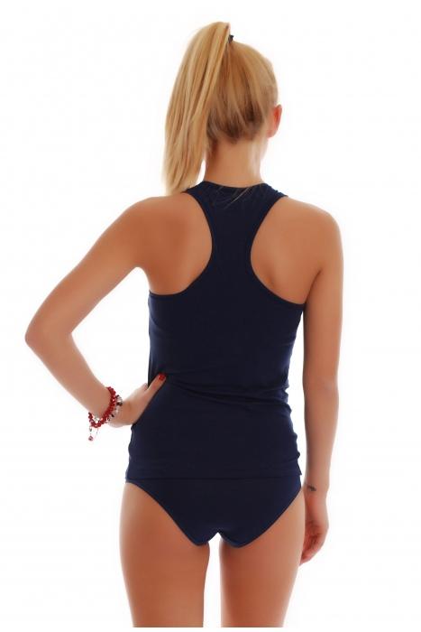 Débardeur décontracté pour femme à dos ouverts et culottes en bikini 1308-1027